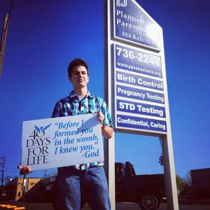 Andrew Koch at a Planned Parenthood clinic in San Antonio